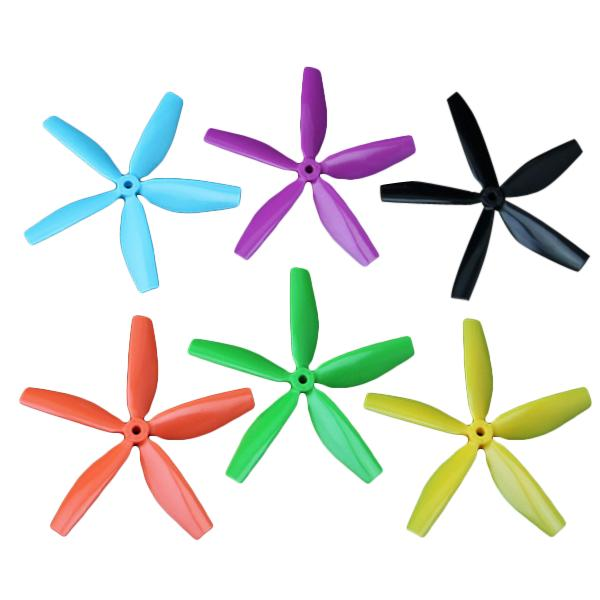 1 Pairs 5045 5-Blade CW/CCW PC Propellers For QAV200 210 250 RC Multirotors