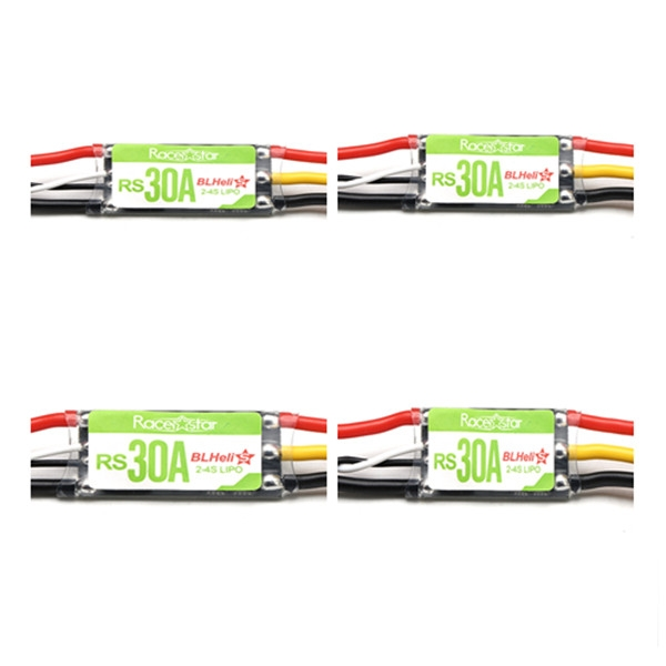 4X Racerstar RS30A 30A Blheli_S OPTO 2-4S ESC Support Oneshot42 Multishot for FPV Racing