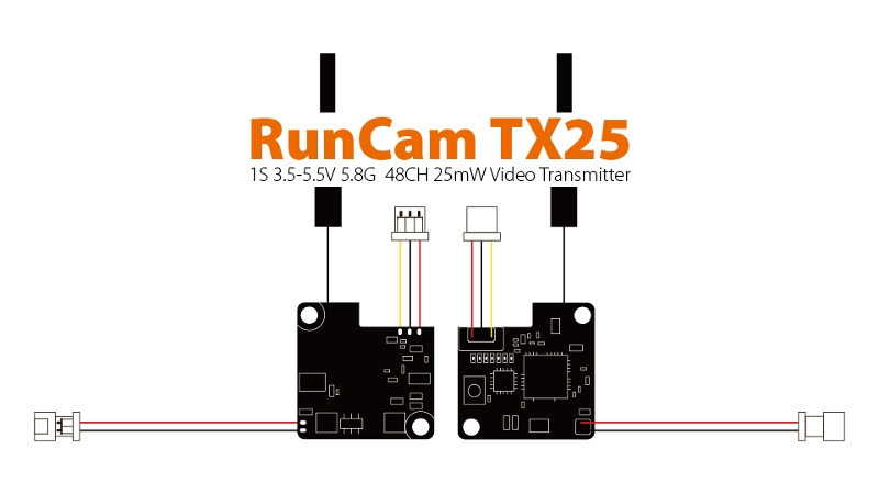 Runcam TX25 5.8G 48CH 25mw Video Transmitter for Micro Swift Micro Swift 2