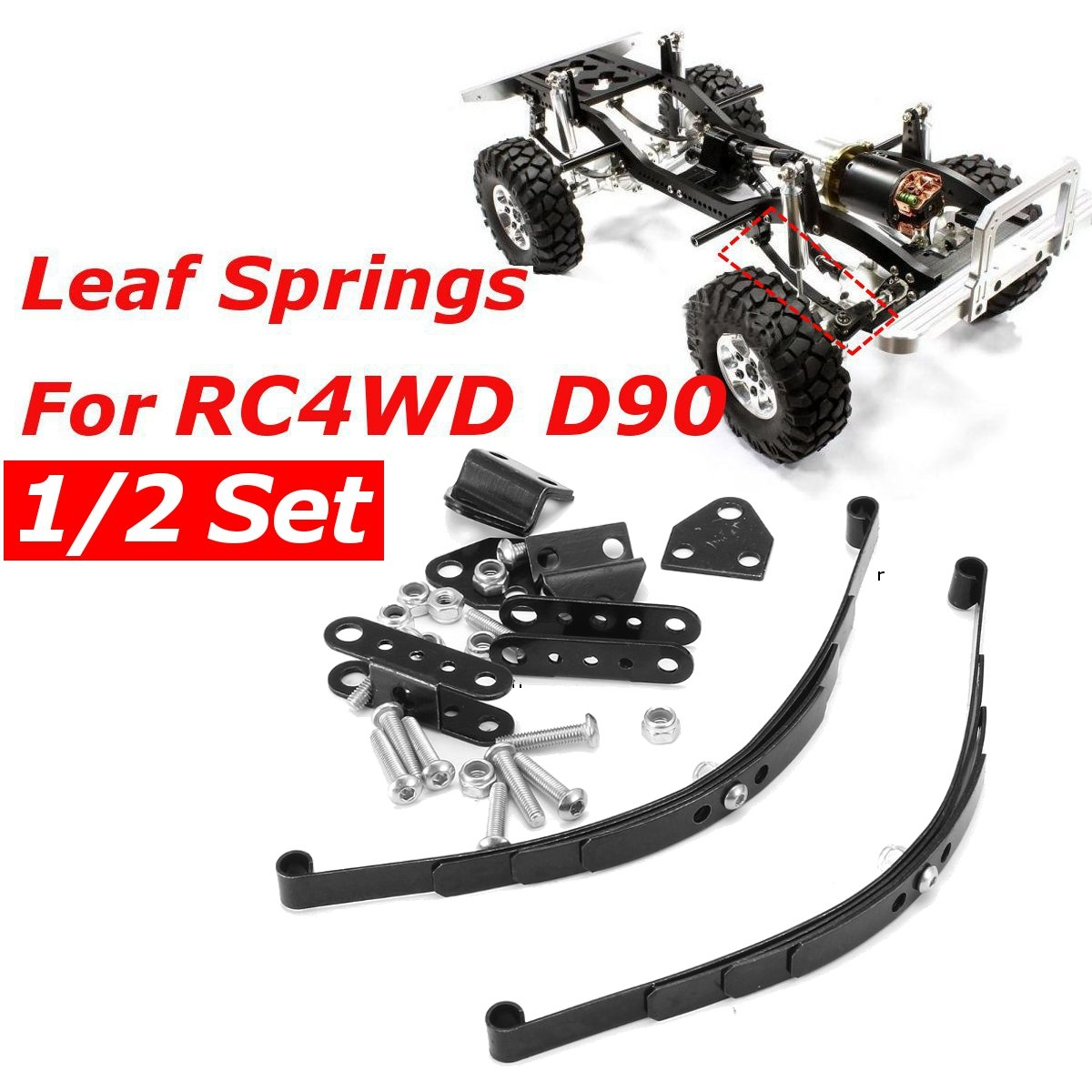 1/2 Set Speed Steel Leaf Type Suspension Car Crawler For RC 4WD TF2 D90 Car Parts