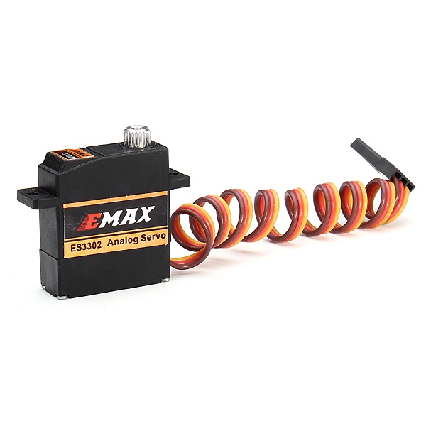 4X EMAX ES3302 12.4g Mini Metal Gear Analog Servo for RC Airplane