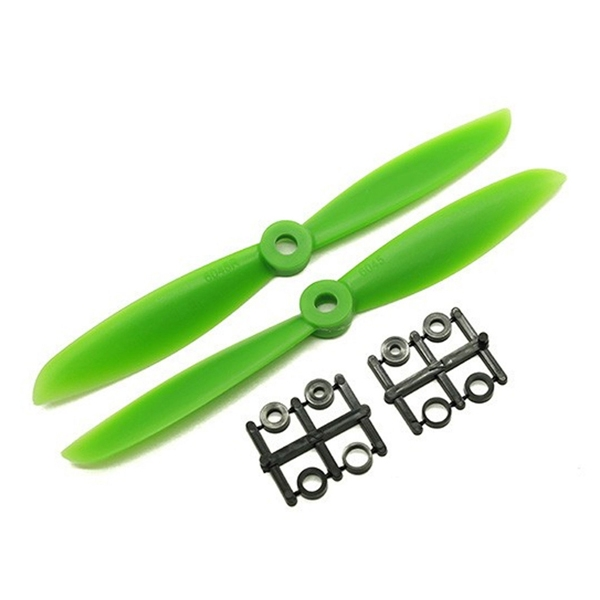 1 Pair WSX 6045 ABS Propeller CW CCW Green for RC Drone FPV Racing