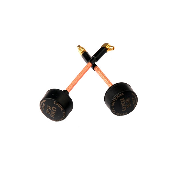 Realacc UXII 5.8G 1.6dBi MMCX-Straight/MMCX-90 Degree RHCP TX RX FPV Antenna for RC Drone