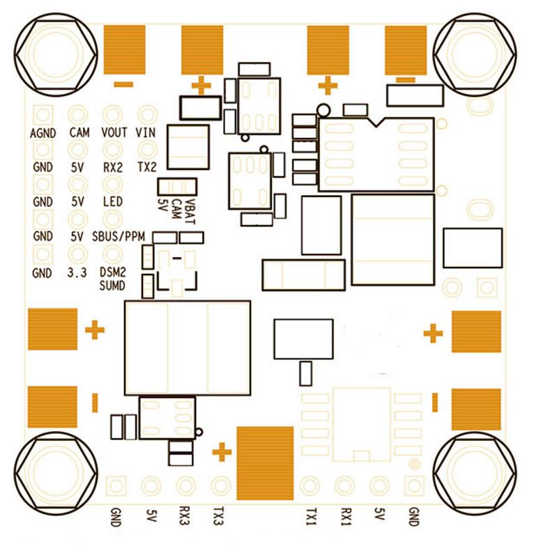 Betaflight F4 Flight Controller Built-in OSD BEC PDB and