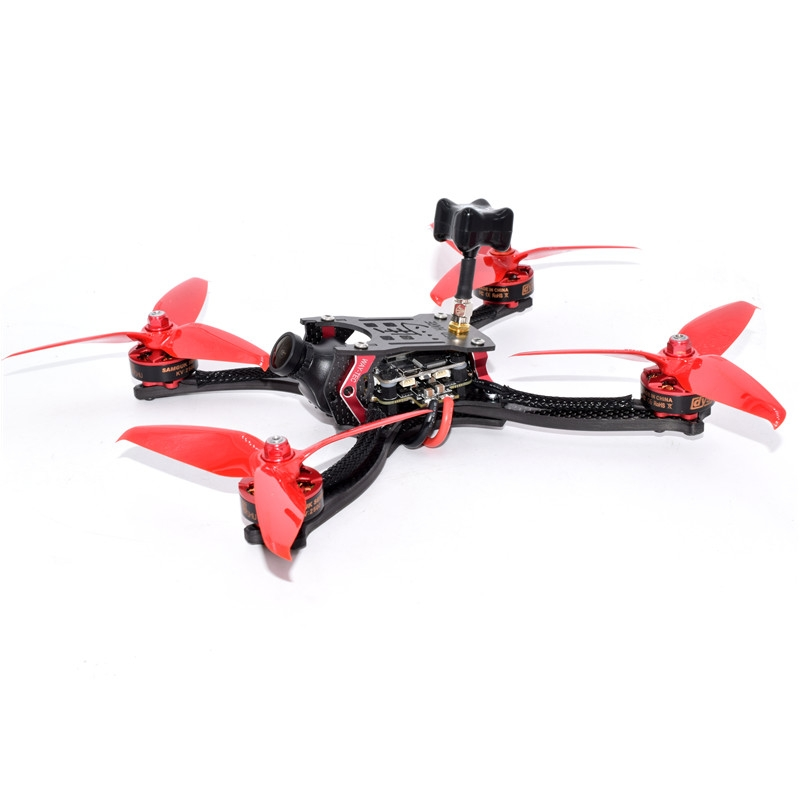 RED HARE 215mm RC FPV Racing Drone with OMVT F4 OSD BLHeli_S 35A 4in1 ESC 5.8G 48CH VTX 960H CCD CAM