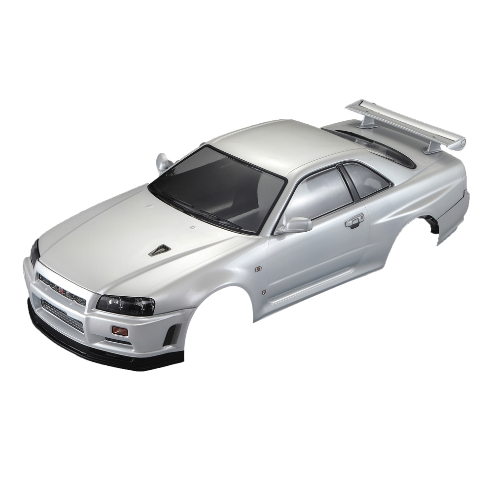 Killerbody NISSAN SKYLINE R34 Finished Body Pearl-white RC Car Body Shell For 1/10 Electric Car