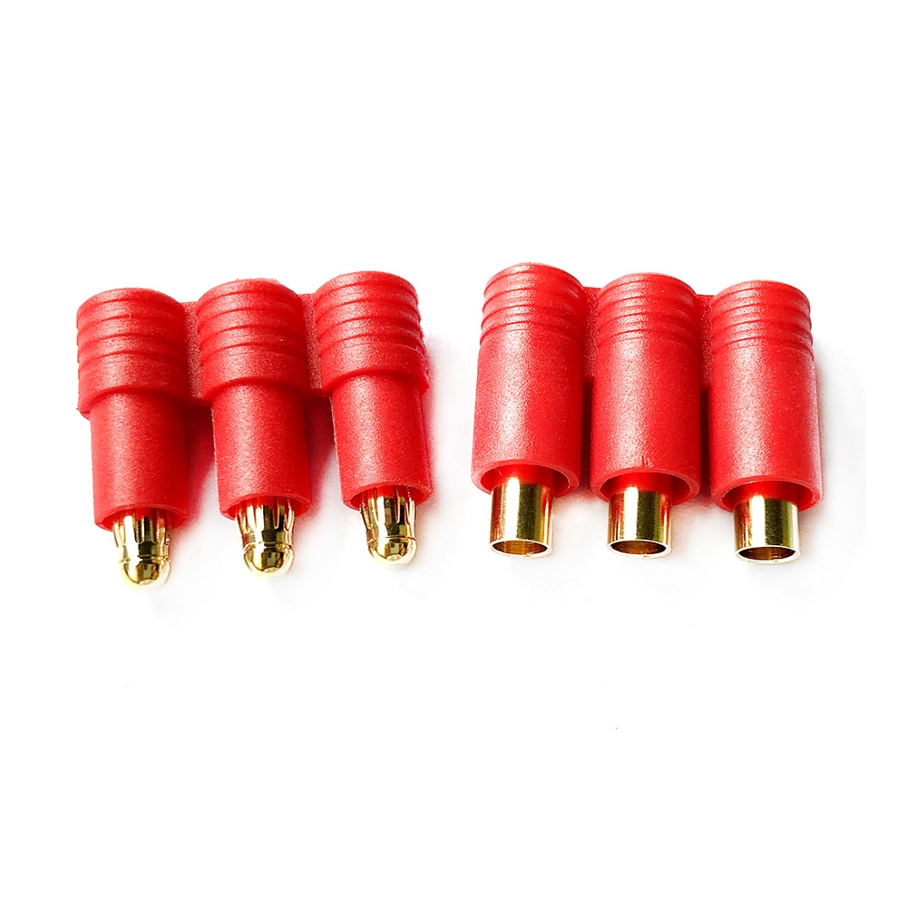 Three-way 3.5mm Banana Plug Male Female With Belt Sheath For RC Drone FPV Racing Multi Rotor