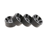 TPOWER 4PC 1.9 Inch Metal Tire Wheel With Screws For 1/10 RC Car Crawler Axial SCX10 90046 D90