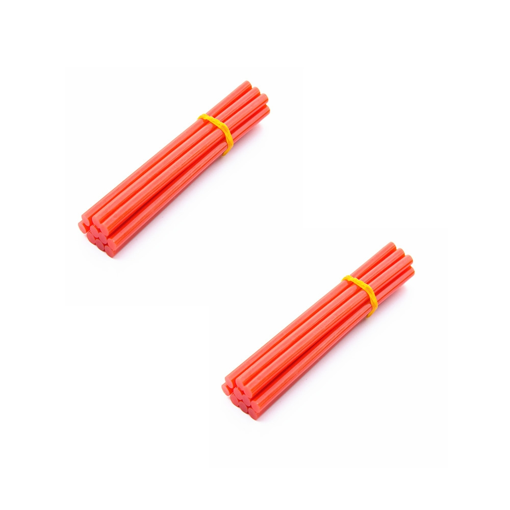 20 pcs 7mm Hot Melt Glue Adhesive Rod Silica Gel Glass Melt Adhesive Glue Stick Red