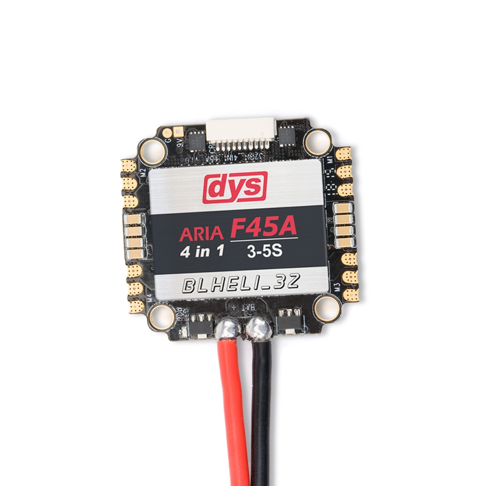 DYS ARIA F45A 45A Blheli_32 4 in 1 3-5S Dshot1200 Ready 5V/3A 9V/1.5A FPV Racing Brushless ESC