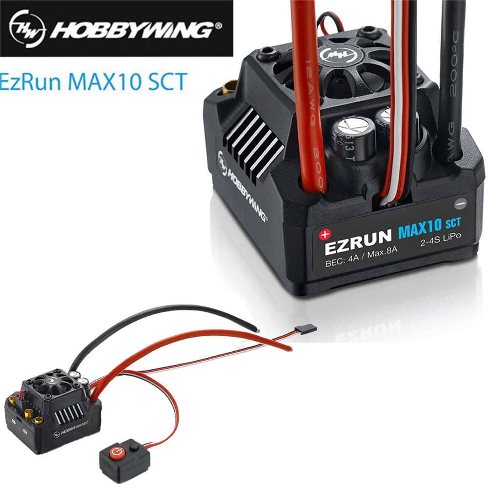 Hobbywing Ezrun Max10 Sct 120a Waterproof Brushless Esc For 1 10 Rc Wiring Car Truck
