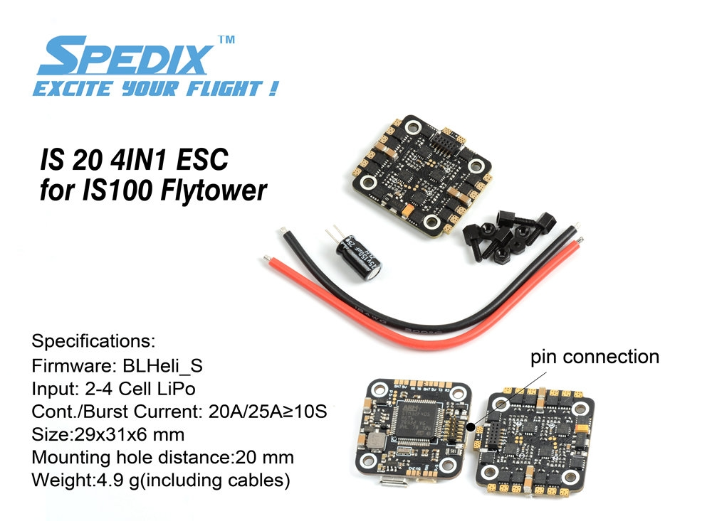 SPEDIX IS100 Flytower Spare Part IS20 4 in 1 20A 2-4S ... on