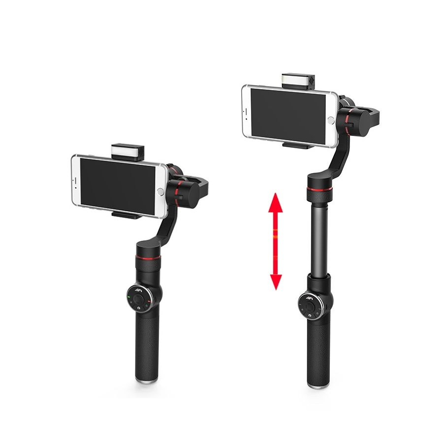 AFI V5 3 Axis Handheld Telescopic Gimbal W/ LED Fill Light Focus Adjusted For 6 Inch Smartphone