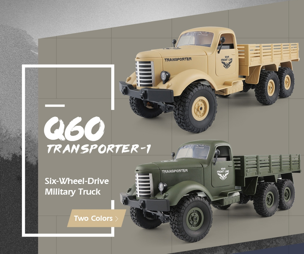 JJRC Q60 1/16 2.G 6WD Off-Road Military Trunk Crawler RC Car