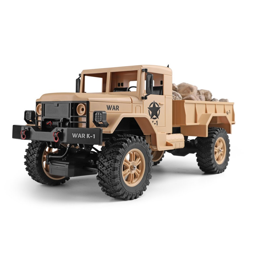 Wltoys 124302 1/12 2.4G 4WD 45cm 390 Bruhed Rc Car 4.5kg Load Off-road Military Truck RTR Toy