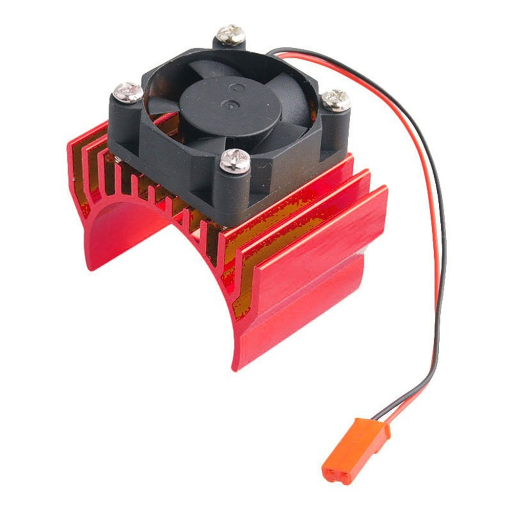 RC Car Motor Radiator With Cooling Fan For 1/10 HSP RC Car 540 550 3650 Motor