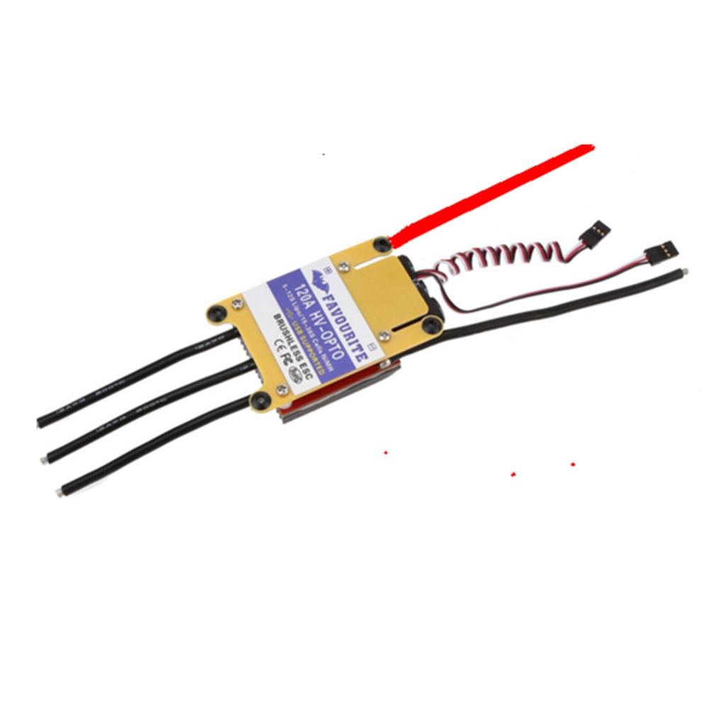 Favourite FVT HV-OPTO 120A 5-12S Brushless ESC USB Supported for RC Airplane Aircraft Fixed Wing