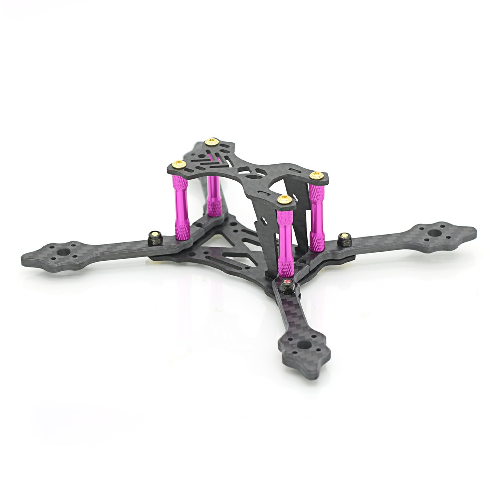 Skystars X140 Pro 140mm Wheelbase 4mm Arm 3K Carbon Fiber Frame Kit for RC Drone FPV Racing