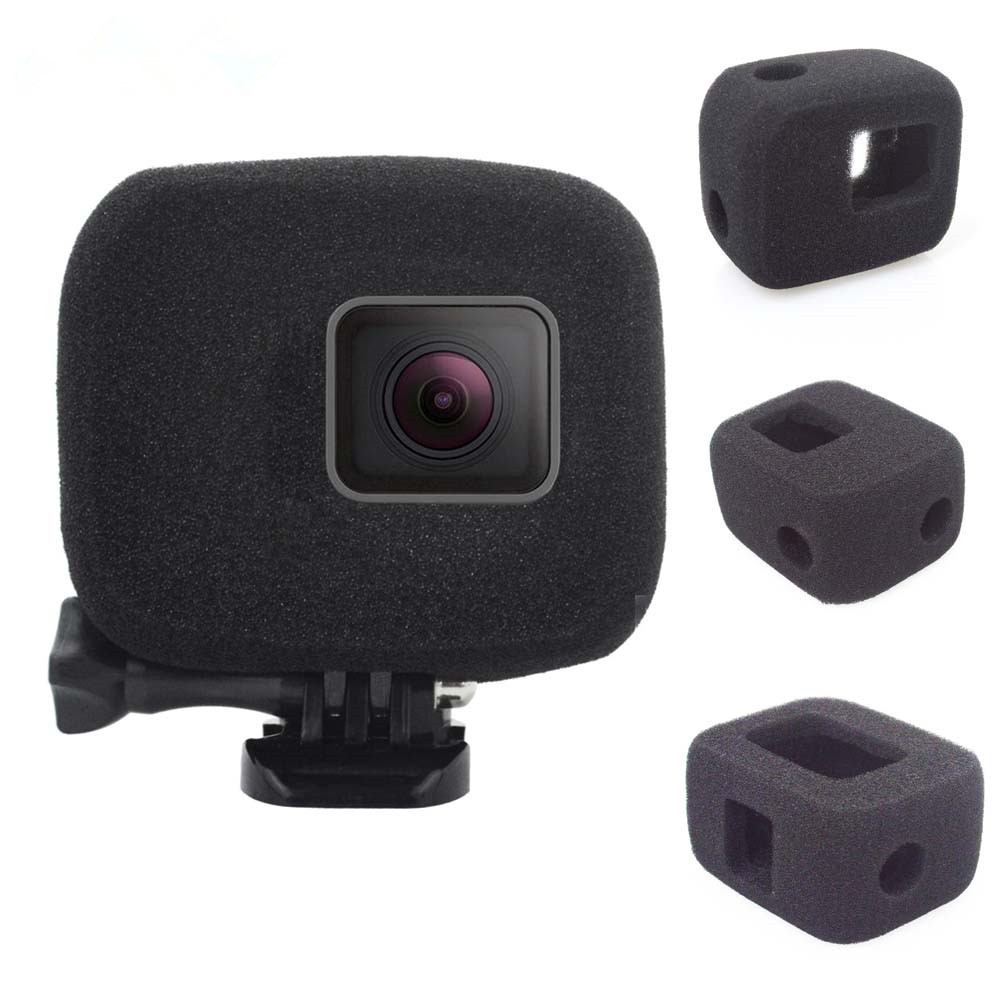 1PC Sponge Windshield Black for Gopro Hero 5/6/7 Sport Camera