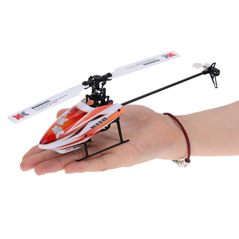 XK K110 Blast 6CH Brushless 3D6G System RC Helicopter BNF With 4 Pcs Battery