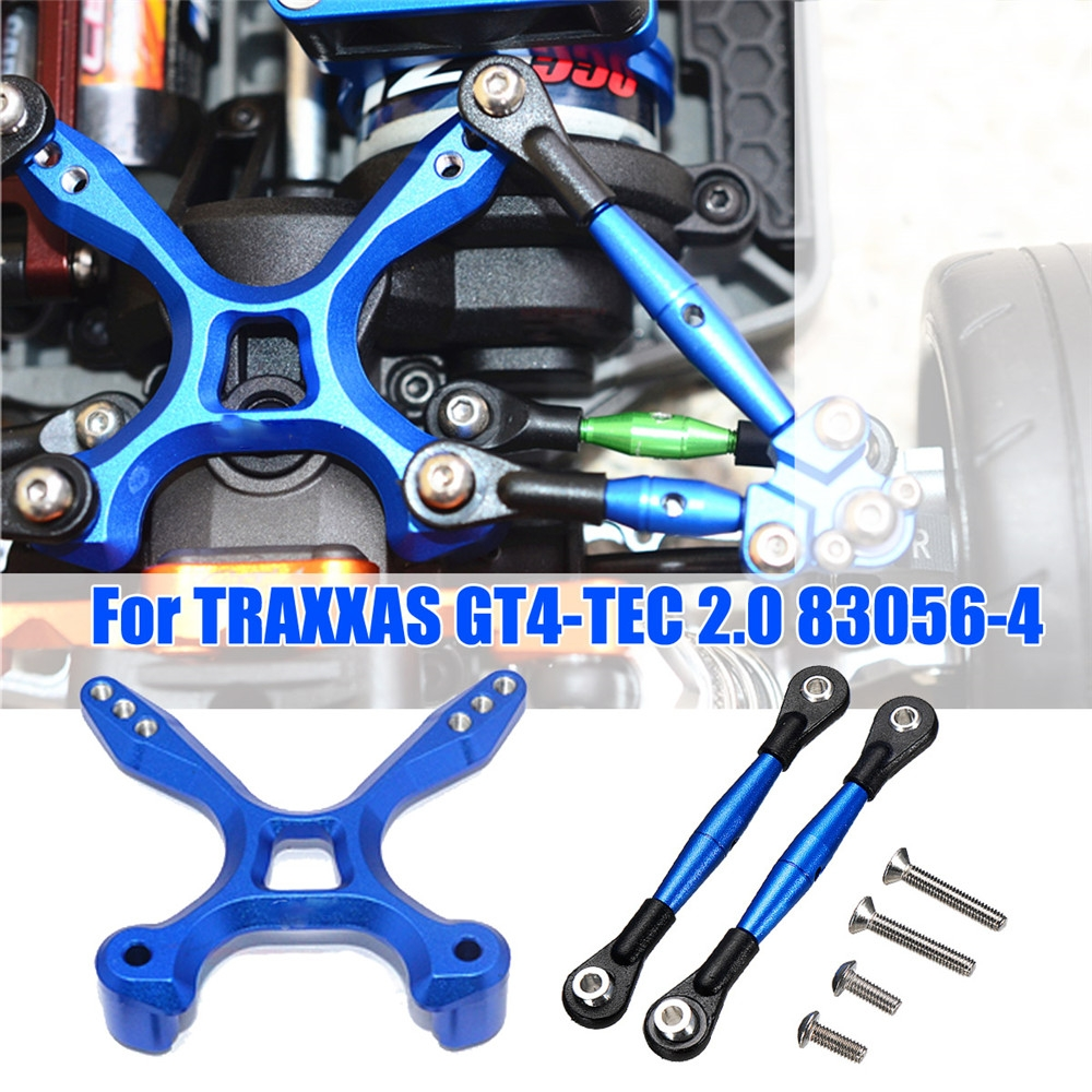 1 Set Aluminum Rear Tie Rods Arms + Stabilizer for TRAXXAS GT4-TEC 2.0 83056-4 RC Car Parts