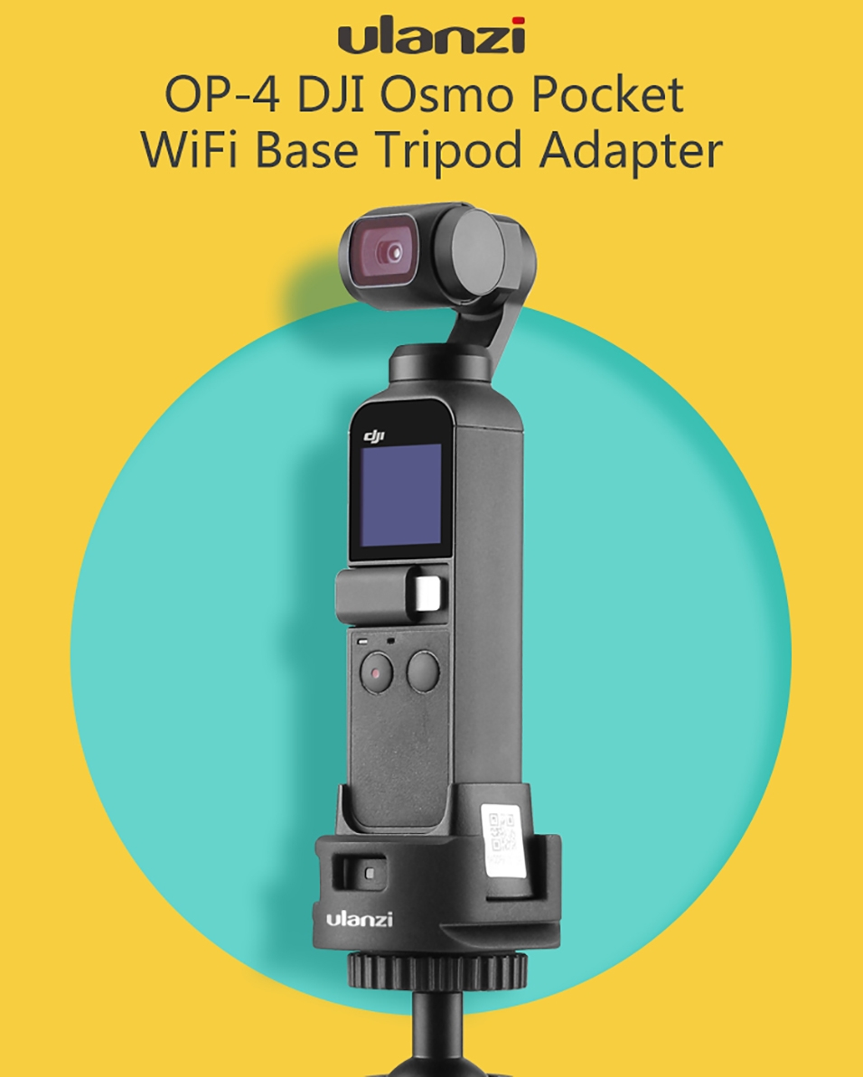 ULANZI OP-4 Wifi Type-C Charging Base Tripod Adapter with Quick Release Mount 1/4'' for DJI OSMO POCKET