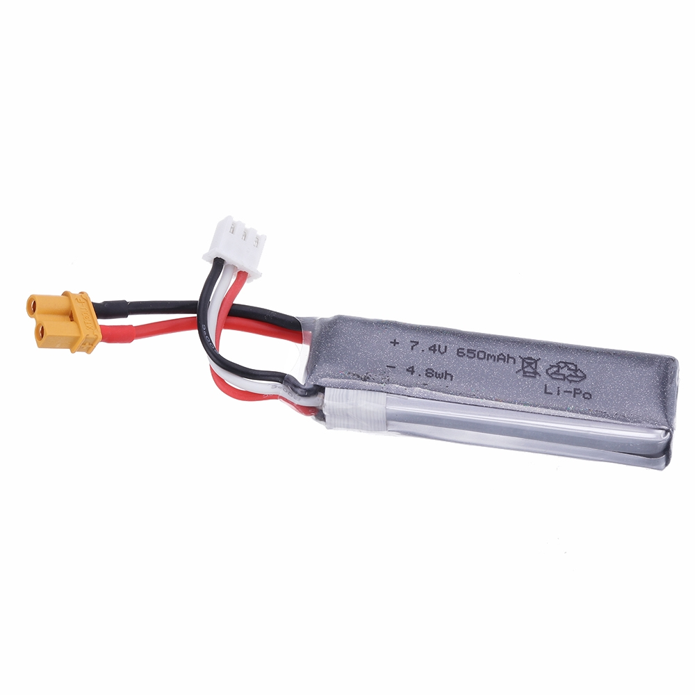 7.4V 650mAh 35C 2S Lipo Battery XT30U Plug For XK K130 Helicopter