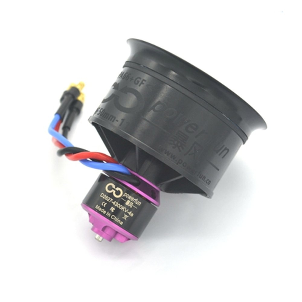 HTIRC 50mm 11 Blades Ducted Fan EDF Unit With 4S D2627 4300KV Brushless Motor For RC Airplane