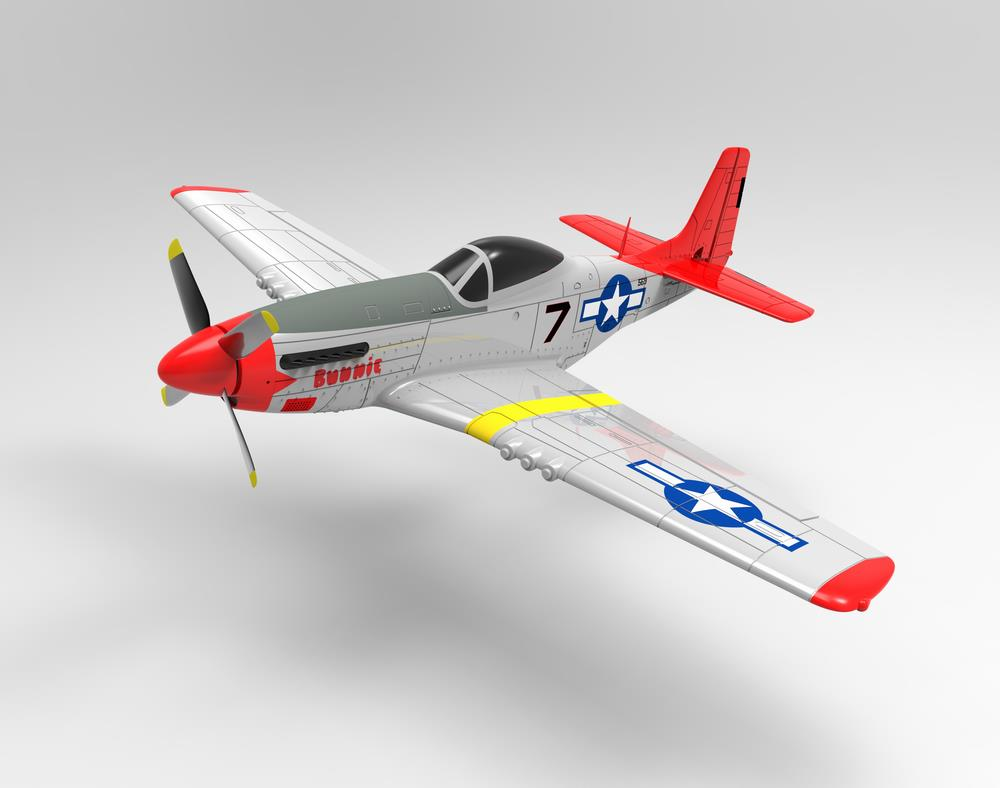 Volantex RC 768-1 Mustang P51D 750mm Wingspan EPO Warbird RC Airplane PNP - Photo: 1