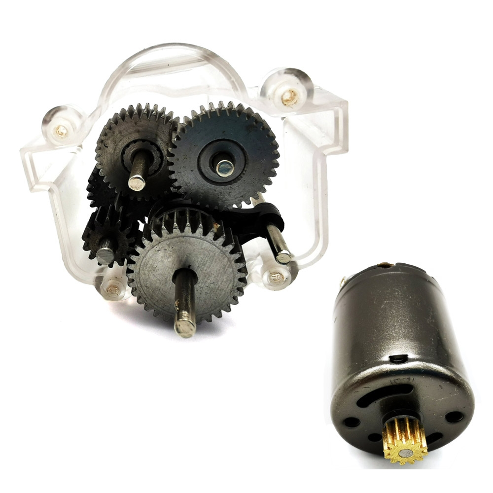 WPL 1Set Original Metal Gears With 370 Motor For Speed Change Gear Box B1 B24 B16 B36 C24 1/16 4WD 6WD Rc Car