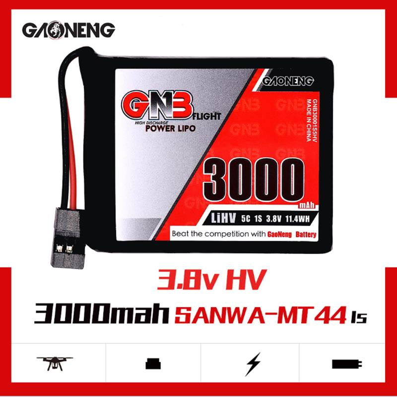 Gaoneng GNB 3.8V 3000MAH 1S 5C HV LiPo Battery for Sanwa MT-44 FH4T Remote Controller