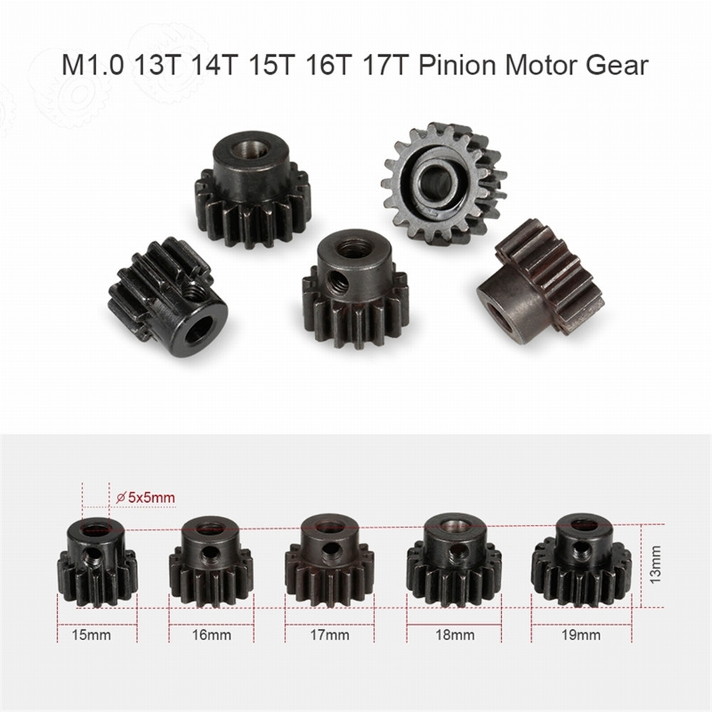 5PCS ZD Racing 8195 M1 13T 14T 15T 16T 17T Pinion Motor Gear for 9116/V3 9020-V3 9021-V3 9203 1/8 RC Car Parts