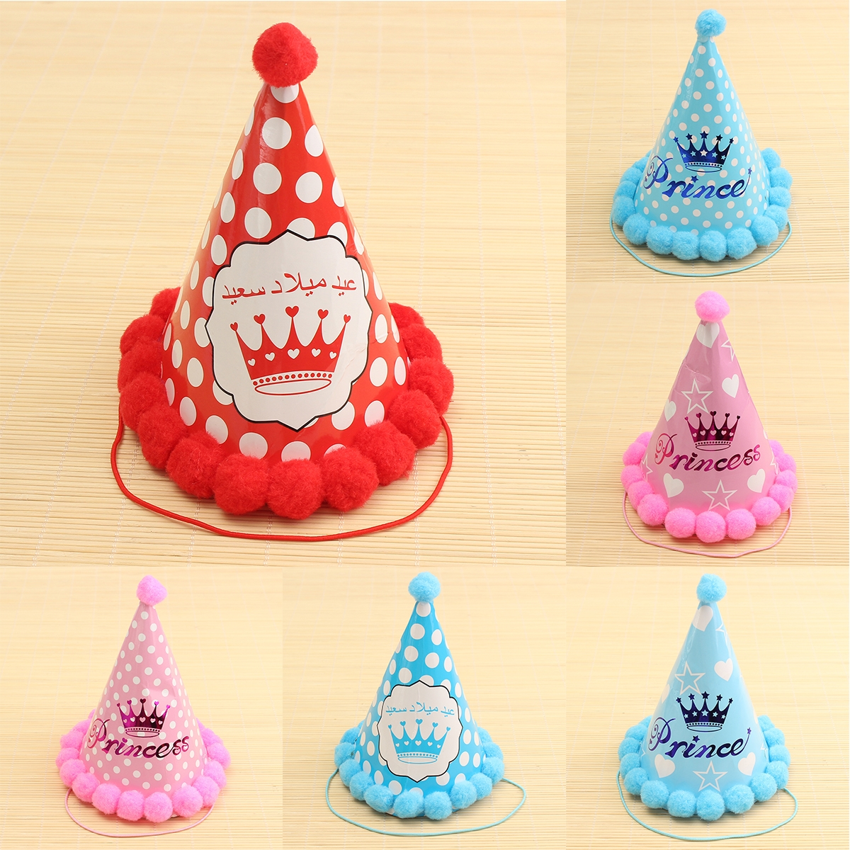 Paper Party Cone Hats Dress Up Girls Boys Favour Supplies For Kids Birthday