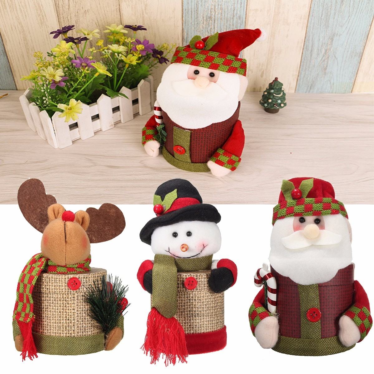 Santa Claus / Snowman / Elk Santa Claus Gift Box Christmas Candy Box Decorations