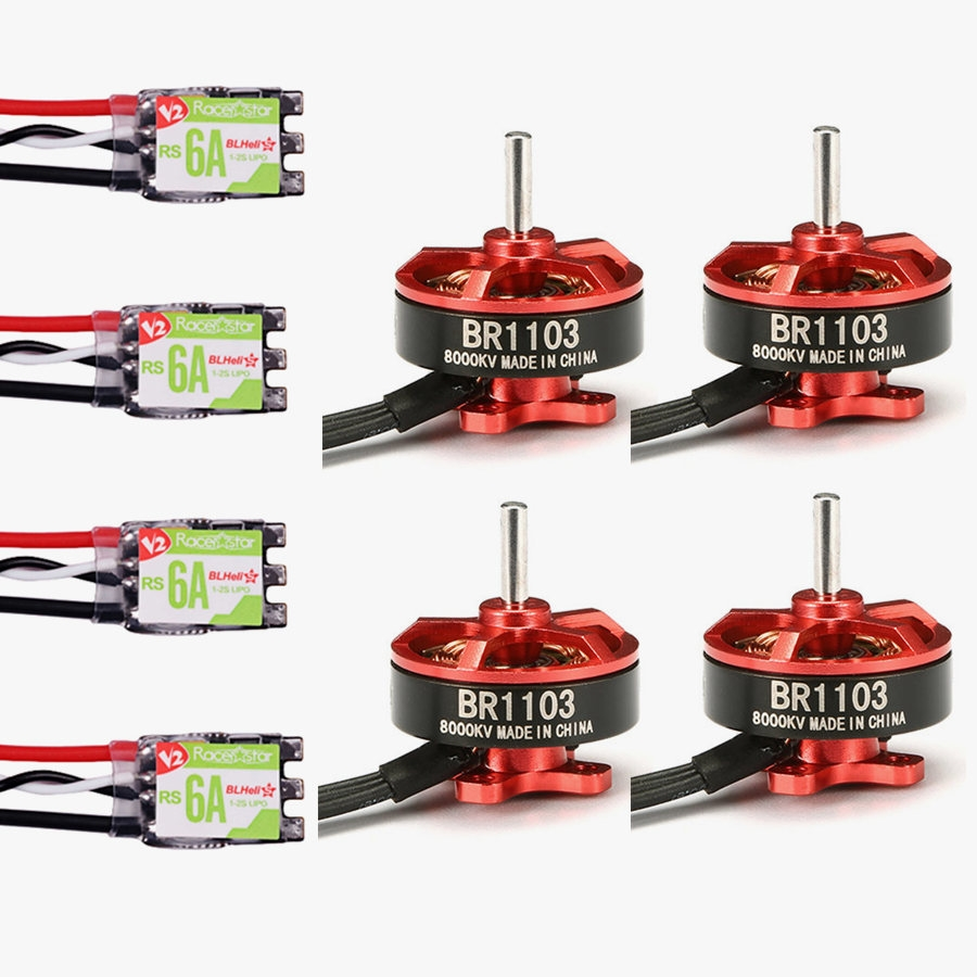 Racerstar Racing Edition 1103 BR1103 8000KV 1-2S Brushless Motor + RS6A V2 BB2 Blheli_S 6A 1-2S ESC