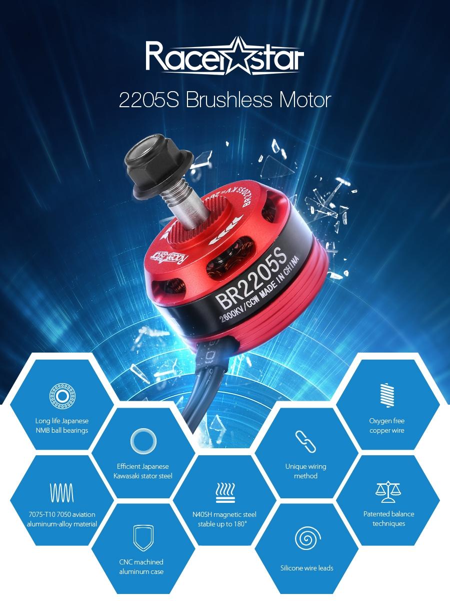 Racerstar Racing Edition 2205S BR2205S 2600KV 2-4S Brushless