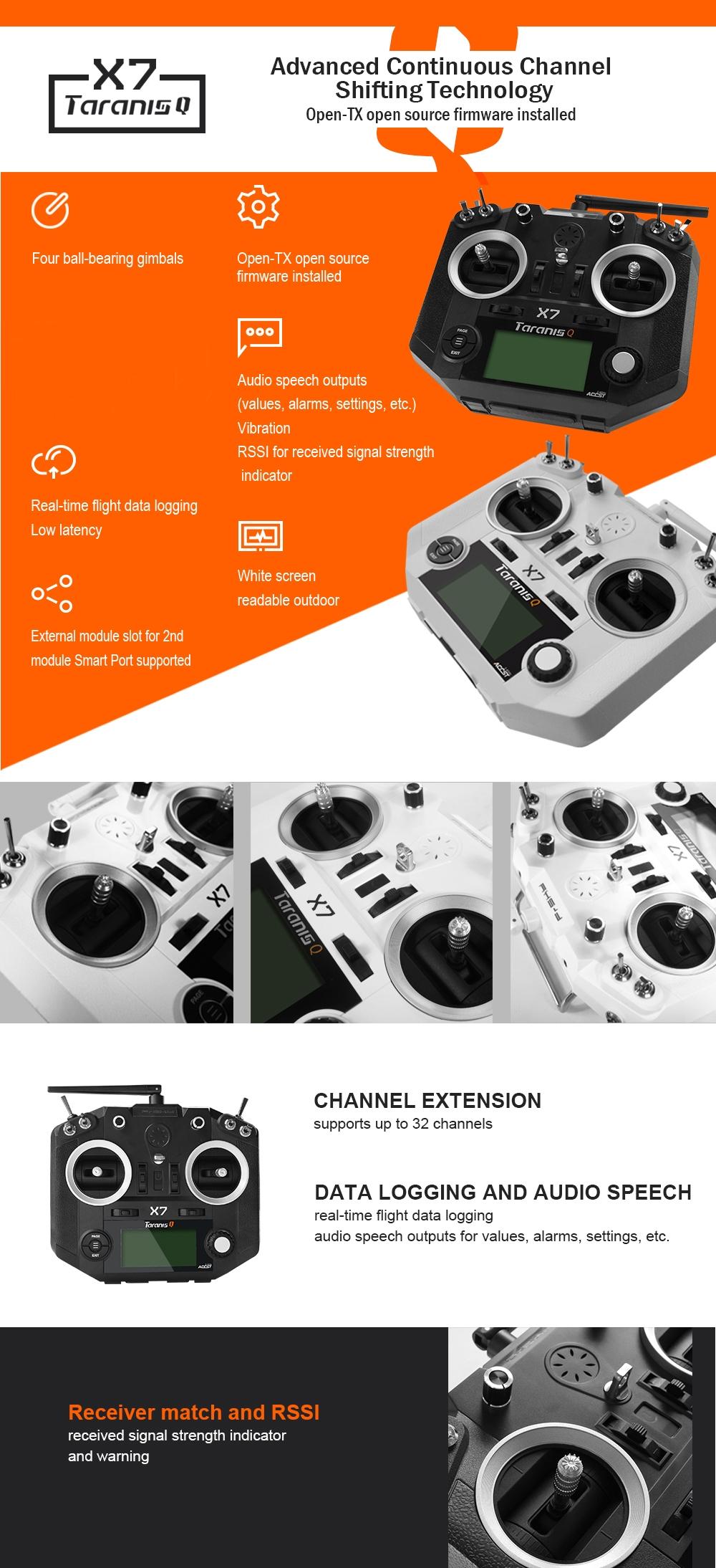Summer Prime Sale FrSky ACCST Taranis Q X7 Transmitter 2 4G