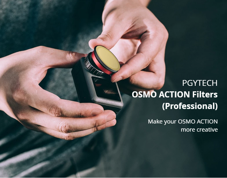 PGYTECH OSMO ACTION Filter ND-PL Set NDPL 8 16 32 64 Lens Professional Accessories P-11B-019 For DJI Sport Camera