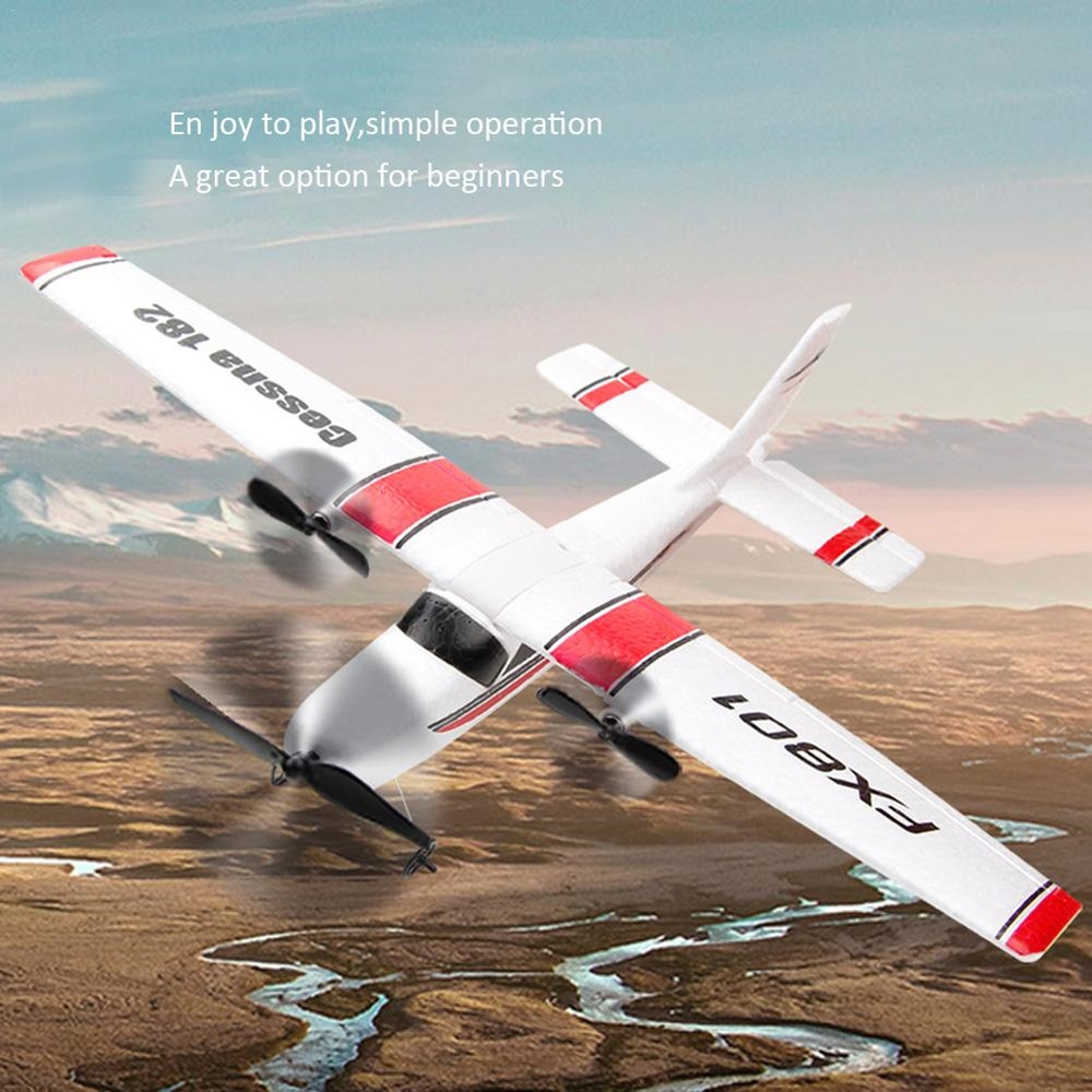 Cessna 182 FX801 310mm Wingspan Remote Control DIY RC Airplane Aircraft Fixed Wing Built-In Battery for Beginner