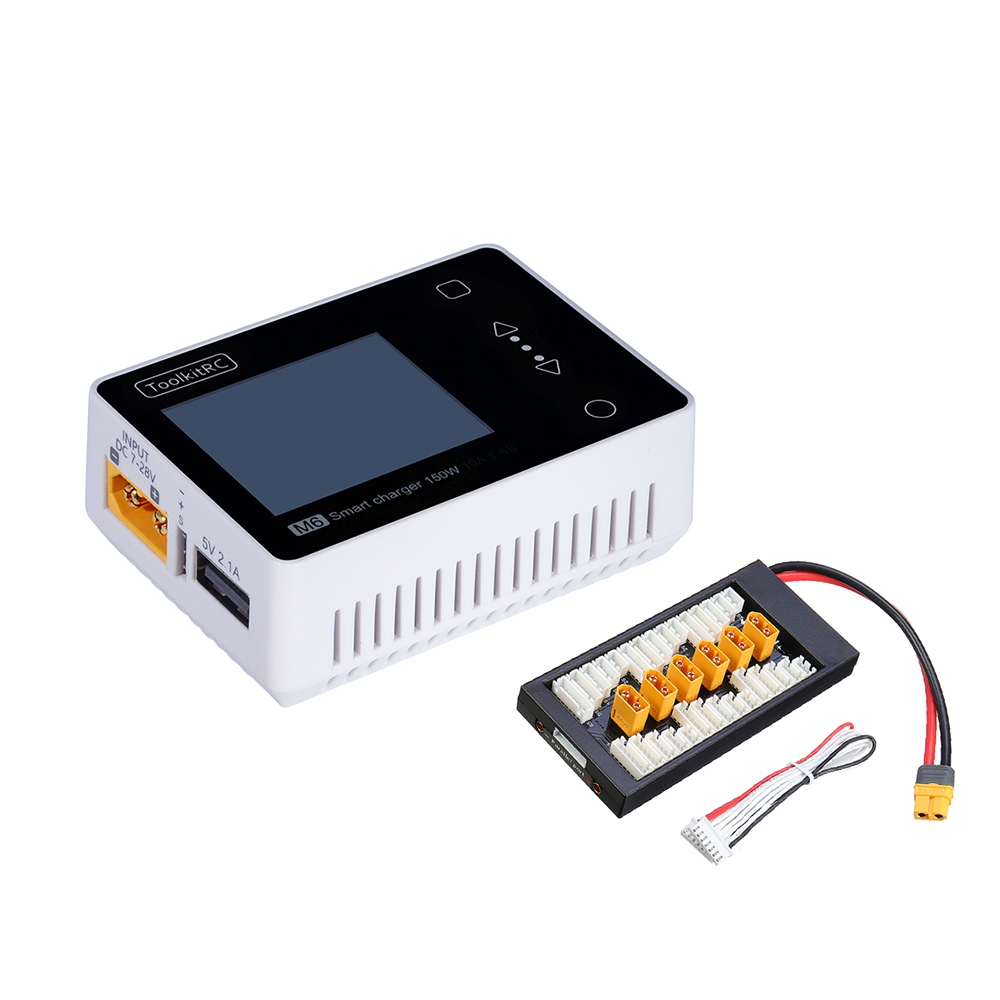 ToolkitRC M6 MINI 150W 10A Smart Battery Charger with XT60 Charger Board for 2-6S Lipo Battery