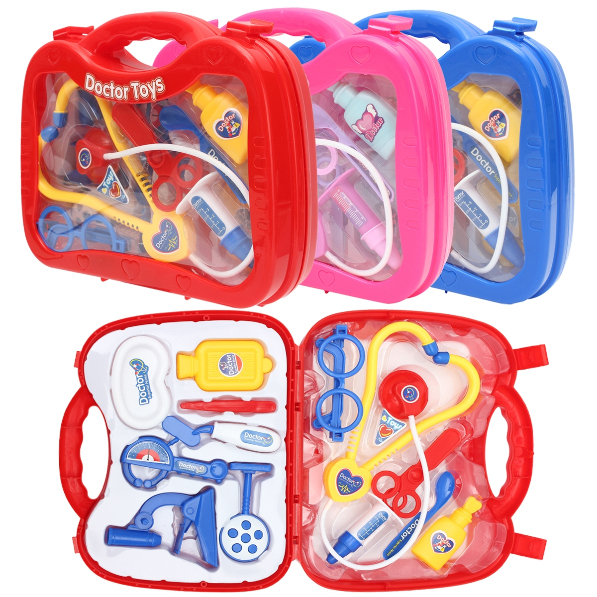 Kids Childrens Role Play Doctor Nurses Toy Medical Set Kit Gift Toys