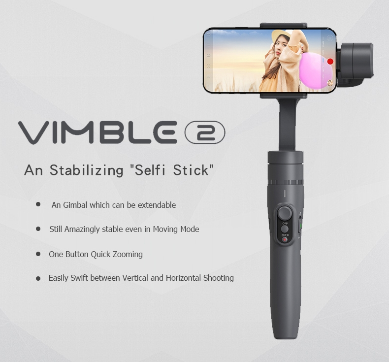 Feiyu Tech Vimble 2 3-Axis Brushless Handheld Steady Gimbal Extension Rod for 4-5.5 Inch Smart Phone