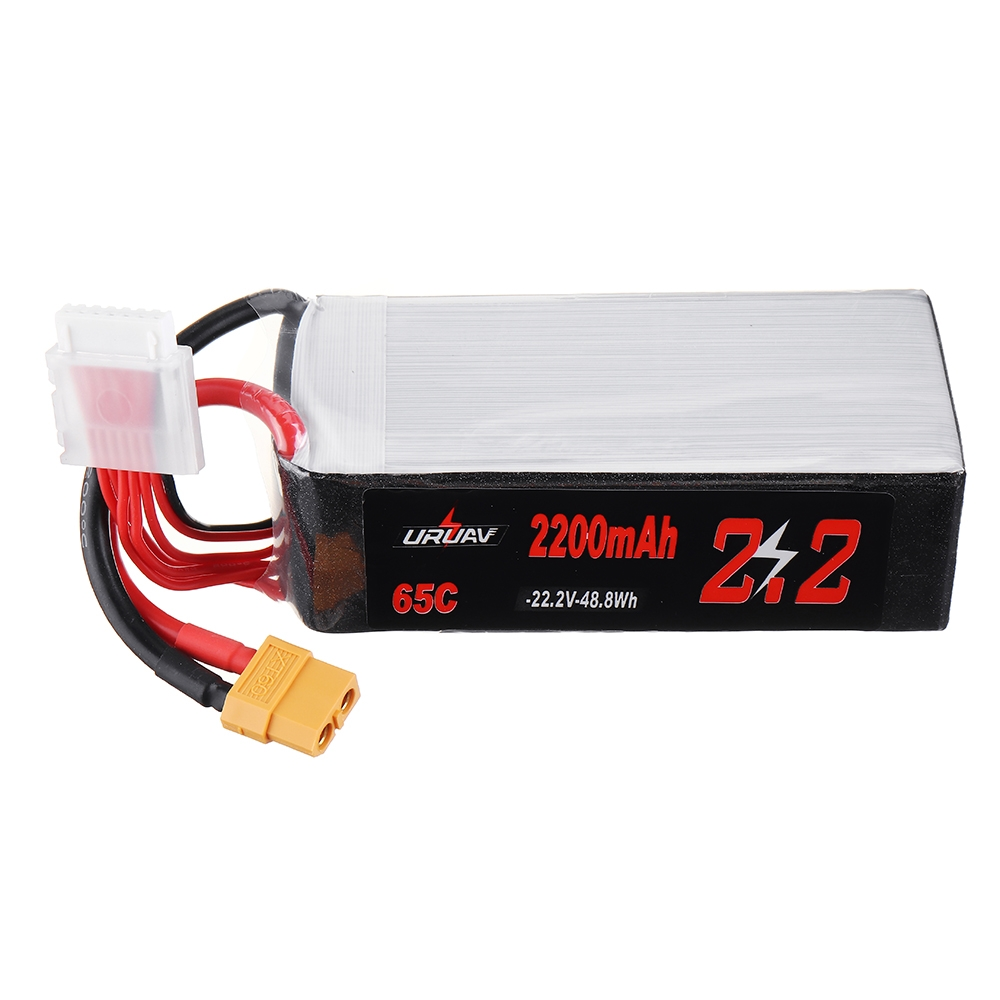 URUAV 22.2V 2200mAh 65C 6S Lipo Battery for RC Racing Drone Helicopter