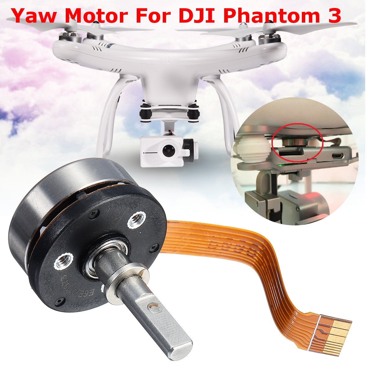 Gimbal Yaw Motor RC Quadcopter Parts For DJI Phantom 3 Standard