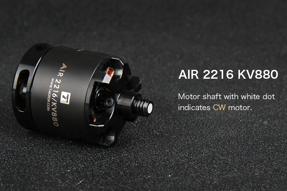 T-motor 4PCS Air2216 880KV Motor+ 4PCS T1045 Prop For DIY FPV Racing RC Drone