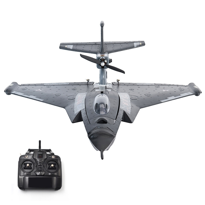 EPP 640mm Wingspan RC Airplane Ready to Fly DIY 3D Stunt Fixed Wing War Fighter Aircraft with Battery Remote Controlled RTF