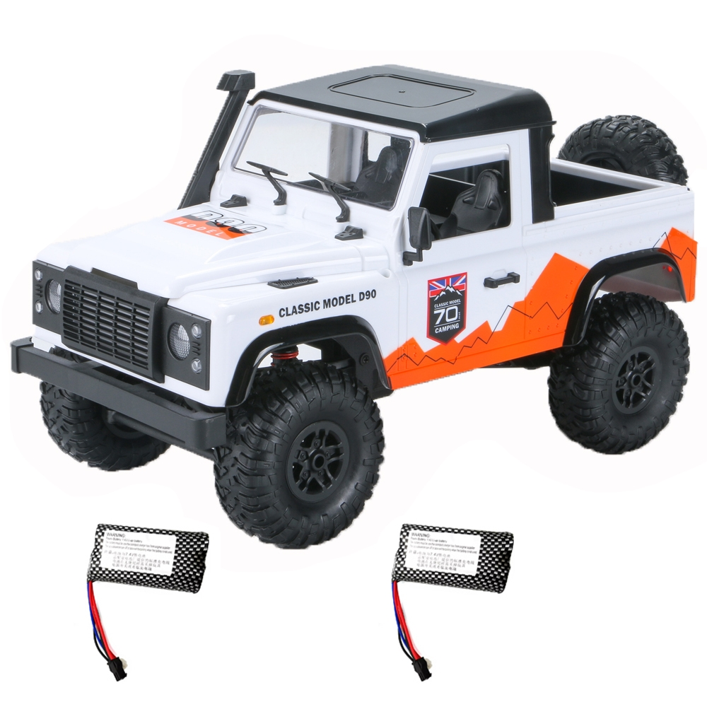 MN D90 1/12 2.4G 4WD RC Car Crawler Truck RTR Vehicle Models Two Battery