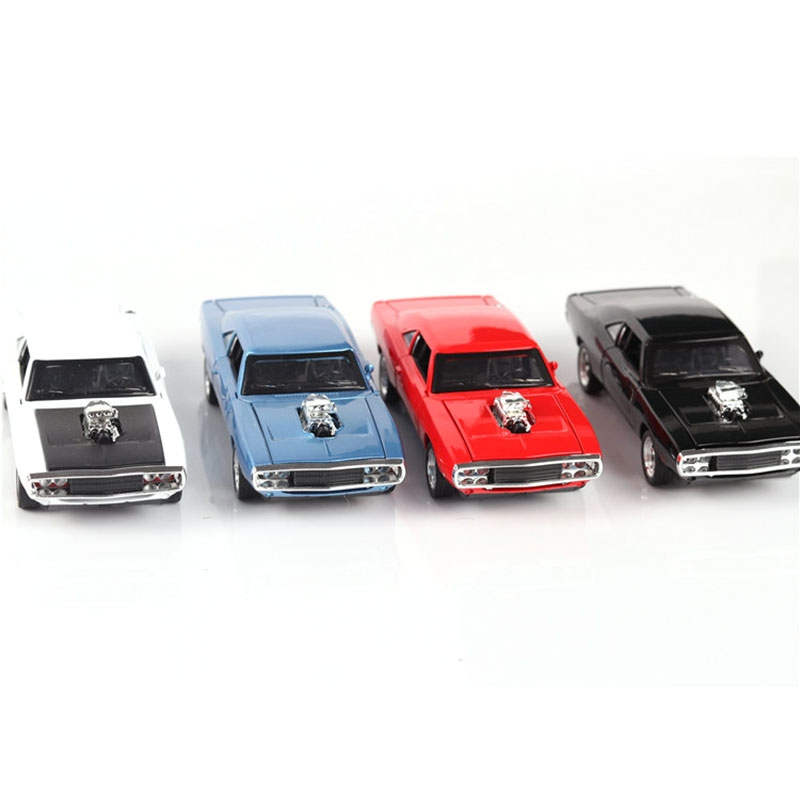 1:32 Dodge Classic Alloy Pull-back Car with Sound and Light Diecast Car Model Toy