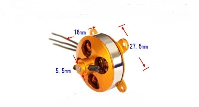 SS Series RC Motor Brushless A2204 2204 1400KV KV1400/1600KV KV1600 with O Ring for RC Fixed Wing Airplane Quadcopter Multirotor Drone