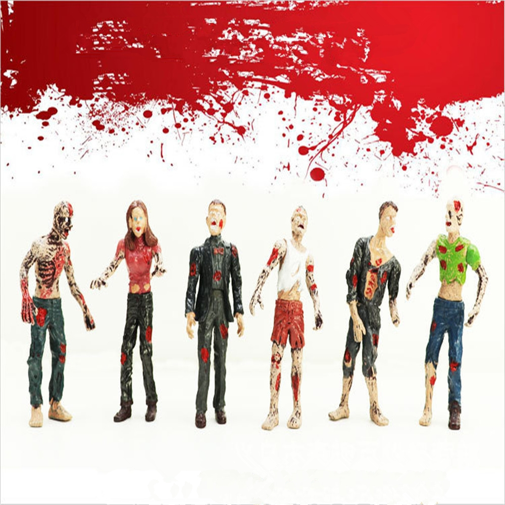 Vampire Zombie Doll Novelty Horror Toys Walking Dead Zombie Doll Static Model Decoration Action Figure